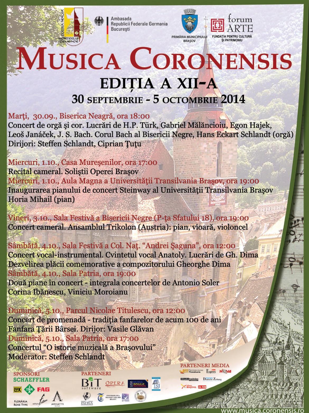 Program Musica Coronensis 2014