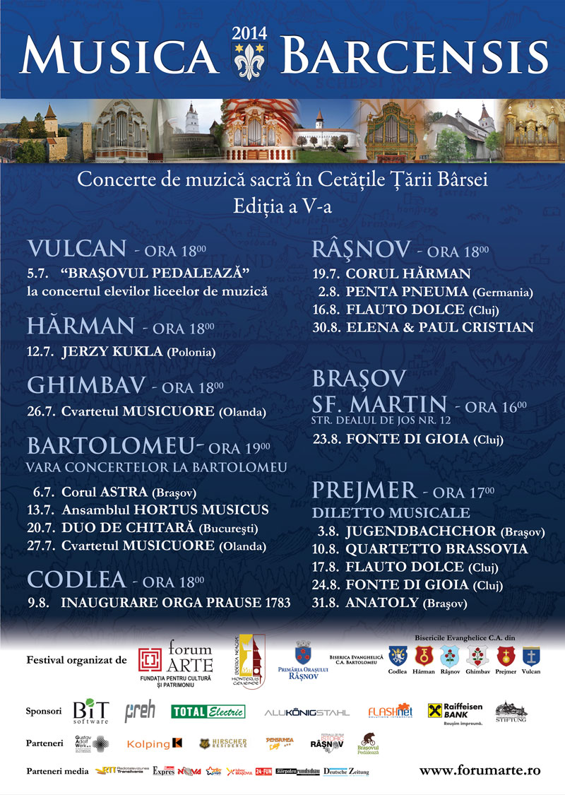 Program festival Musica Barcensis 2014